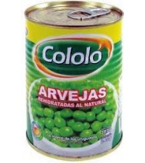 ARVEJAS COLOLO ABRE FACIL 380 GRS.