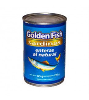 SARDINAS  ENTERAS GOLDEN FISH 425G