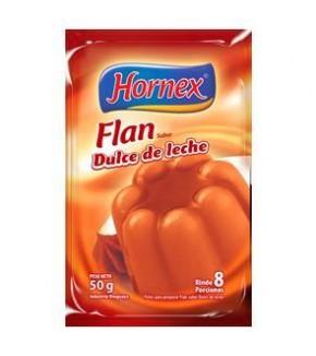 FLAN HORNEX DULCE DE LECHE 8P 50 GRS