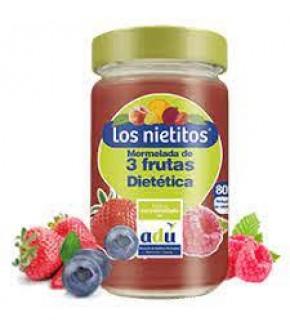 MERM  LOS NIETITOS TRES FRUTAS 0% 340 GRS