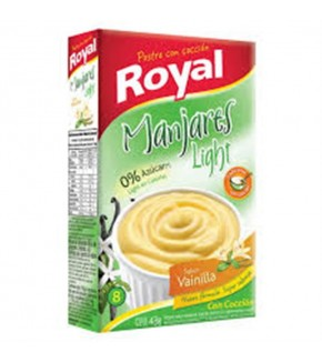 POSTRE ROYAL LIGHT CHOCOLATE Y VAINILLA