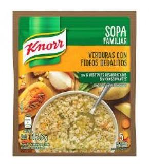 SOPA CASERA KNORR VERDURAS Y FIDEOS