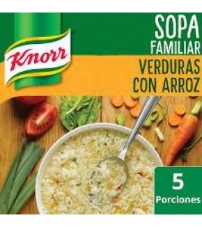SOPA KNORR VERDURAS CON ARROZ