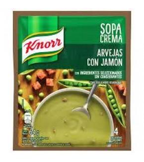 SOPA CREMA KNORR ARVEJAS CON JAMÓN