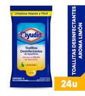 TOALLITAS AYUDIN LIMON X24