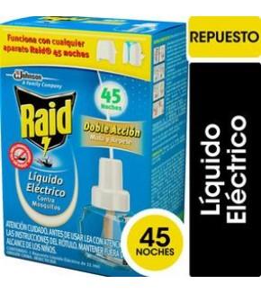 INSECTICIDA  RAID 45 NOCHES REP.32.9 ML