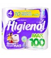 PAPEL HIGIENICO HIGIENOL MAX 100 M X 4