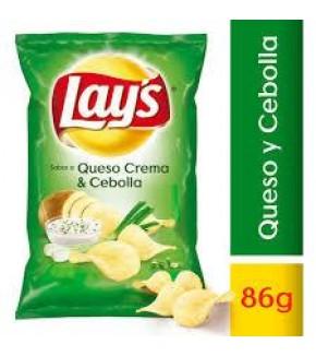 LAYS QUESO CREMA Y CEBOLLA 86GR